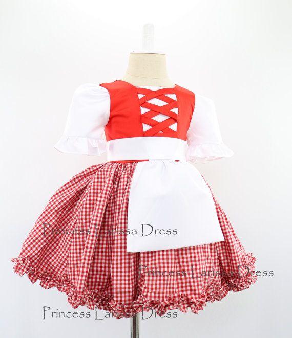 Little Red Riding Hood Halloween traje vestido y cabo, Halloween vestido niño, bebé vestido de niña para fiesta de cumpleaños, PD088-2