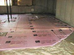 Preparing Insulating Bat Floor