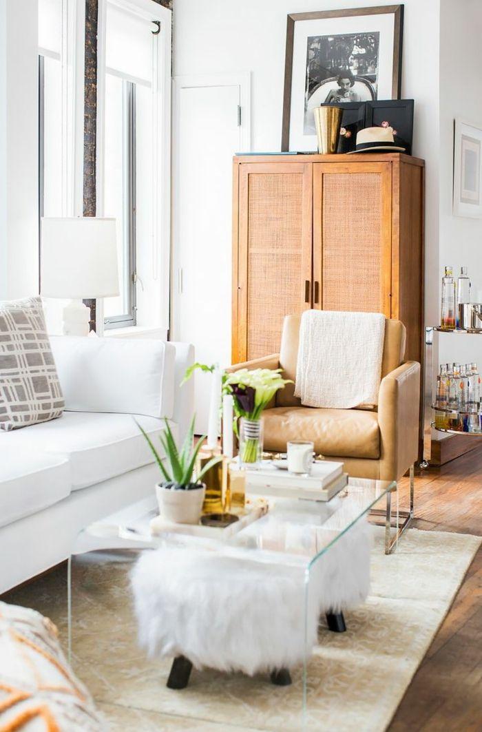 1001 ideas sobre decoraci n de salones para espacios peque os dise o de interiores - Mesas para salones ...