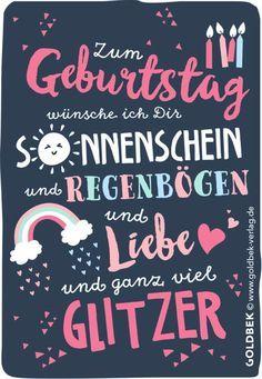Postkarten Geburtstag Mit Ganz Viel Glitzer Geburtstags