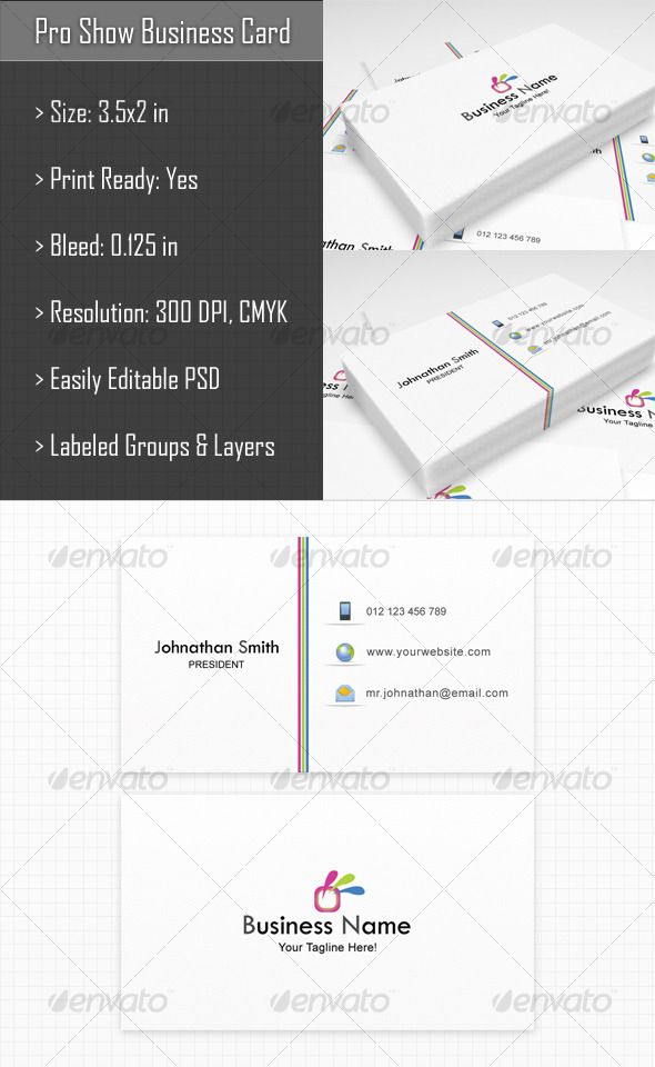 Pro Show Business Card With Images Business Card Design
