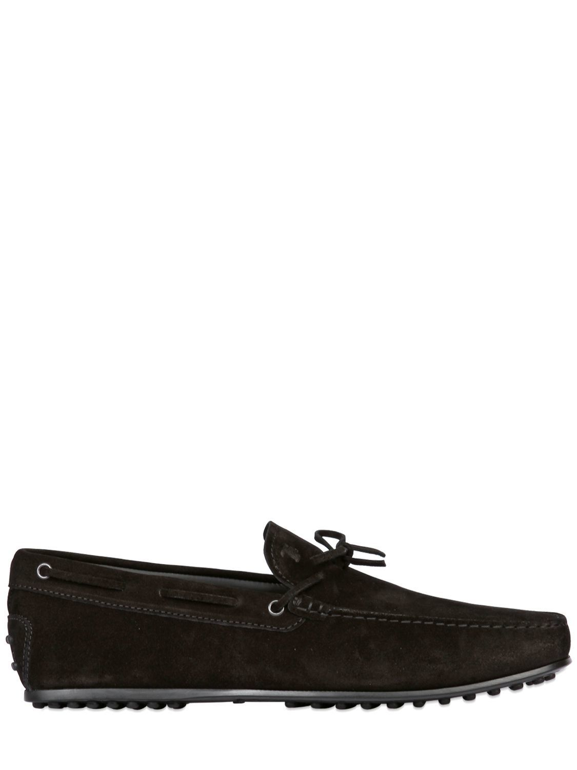 TOD'S CITY GOMMINO TIE SUEDE DRIVING SHOES. #tods #shoes #