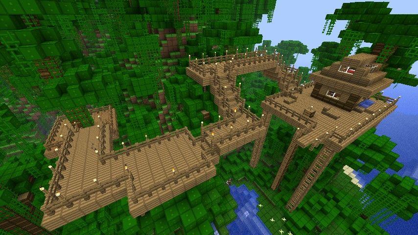 minecraft treehouse - Google Search | Minecraft, Minecraft ...