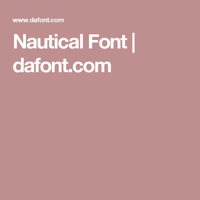 Nautical Font | Fonts | Nautical fonts, Fonts, Word fonts