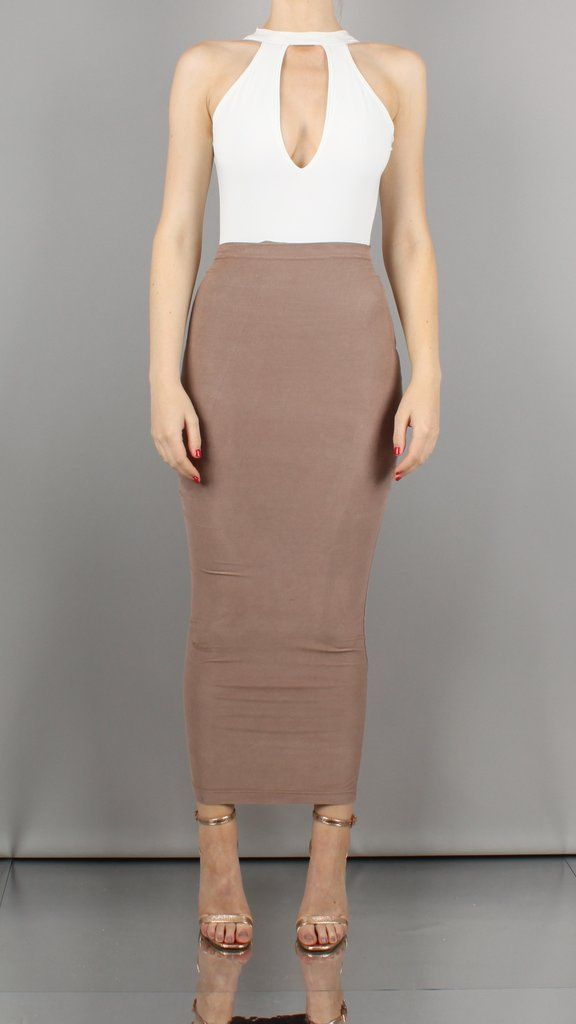 505aa75eaf9e Aaliyah Maxi Length Suedette Bodycon Skirt | Wardrobe | Skirts ...