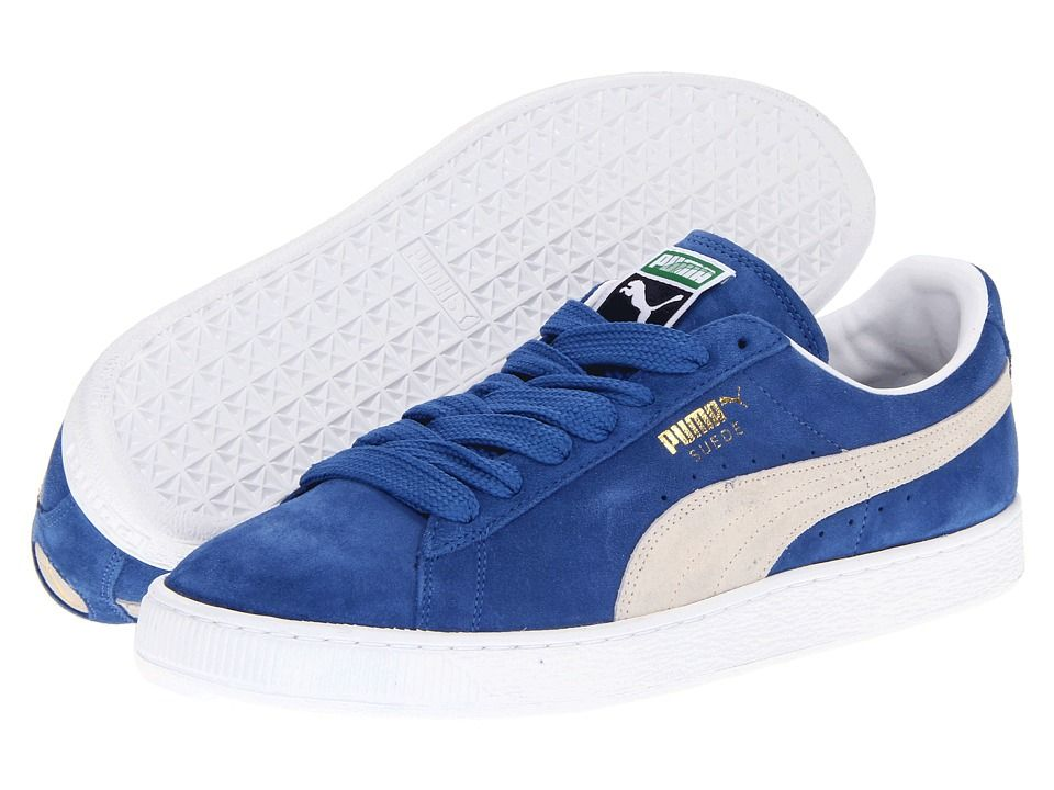 f0ad13ebd2cd38 PUMA Suede Classic Shoes Olympian Blue White