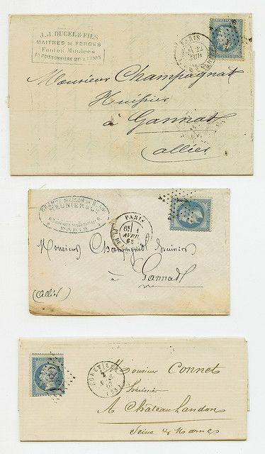 French Envelopes Vintage Lettering Old Letters Handwritten Letters