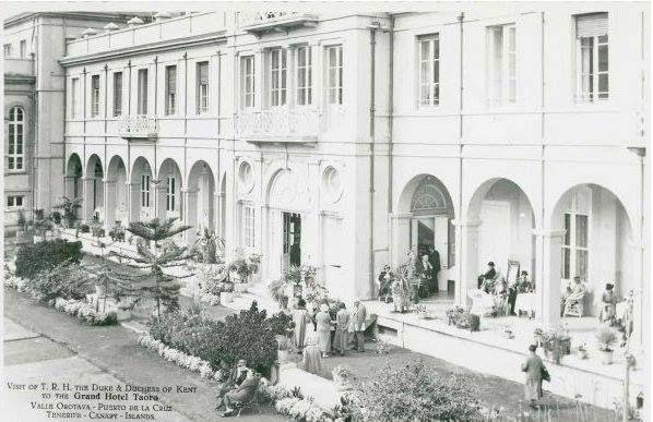 Antigua foto del HOTEL TAORO. PUERTO DE LA CRUZ. TENERIFE.