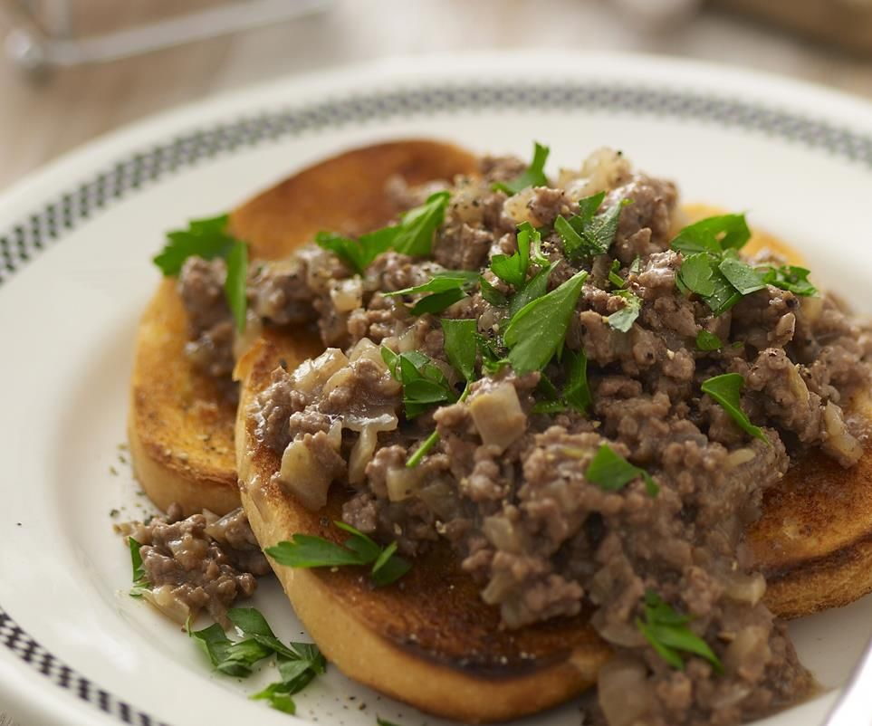 Savoury Mince On Toast Recipe Savoury Mince Beef Recipes Veal Recipes
