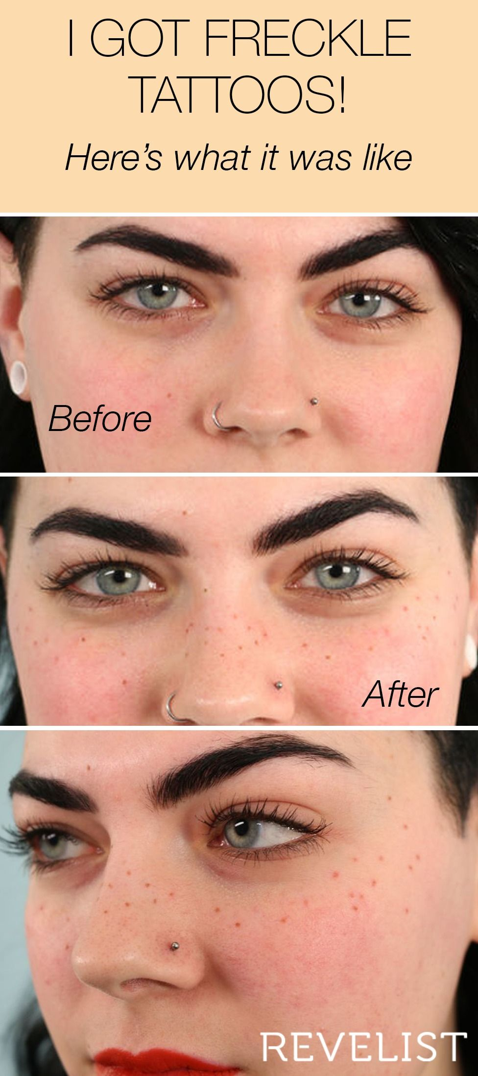 72552b095 If you've been curious about freckle tattoos, this is your chance to learn  everything there is to know. Freckle makeup is a good way to test the  waters, ...