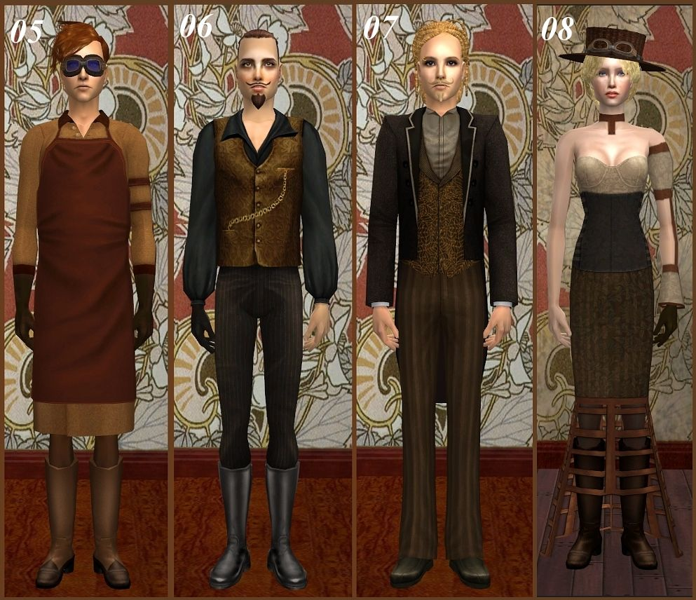 Mod The Sims - *Steampunk Set* pt.2 -edited
