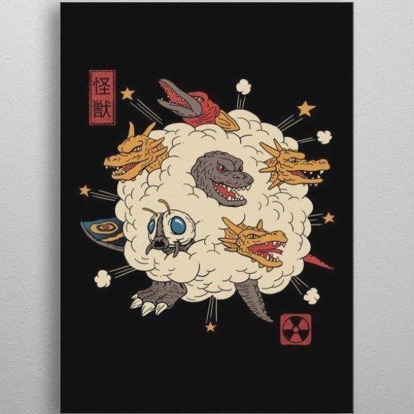 , 'Kaiju Rumble' Poster Print by vp trinidad | Displate, My Travels Blog 2020, My Travels Blog 2020