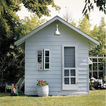 une chambre d'amis dans une cabane | cabane jardin, cabanes et