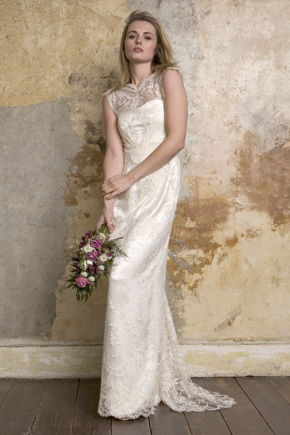 Simple silk wedding dresses  Sally Lacock  Bridal gowns Sally and Gowns
