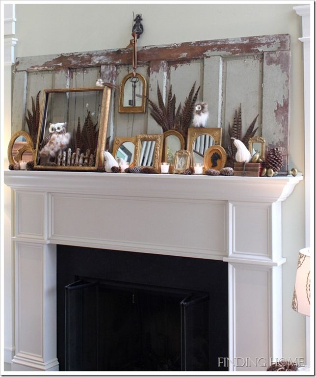 Rustic Mantel Décor That Will Adorn Your Bored To Death: Fall Mantel Decorations, Fall Decor