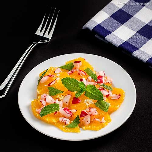 Moroccan Orange and Radish Salad - Cool taste for cool things
