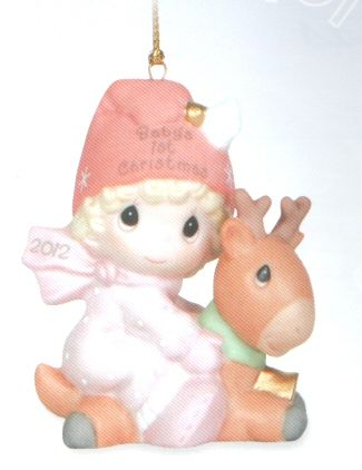 Precious Moments Babys First Christmas Ornament 2020 Precious Moments 2012 Dated Baby's First Christmas Ornament   Girl