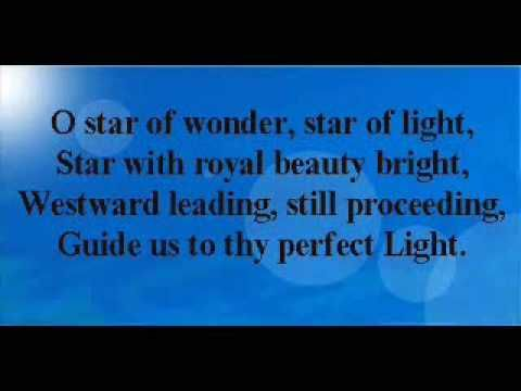 star of wonder star of light star with royal beauty bright