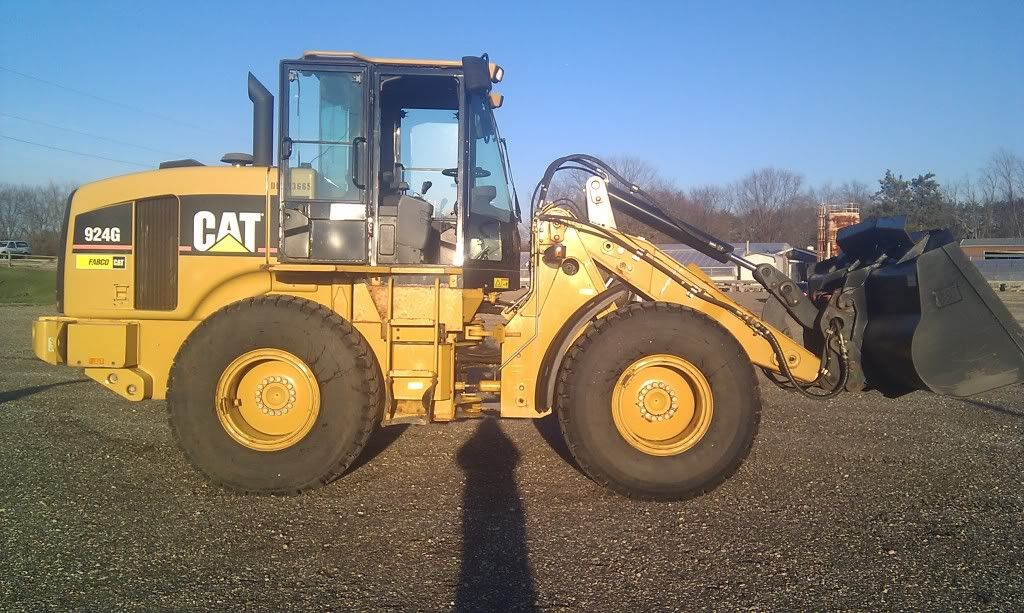 wheel loader with snow pusher 2007 Cat 924G Wheel