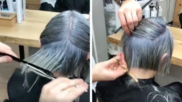 Vuole cambiare look e taglia i capelli. L'acconciatura che ...