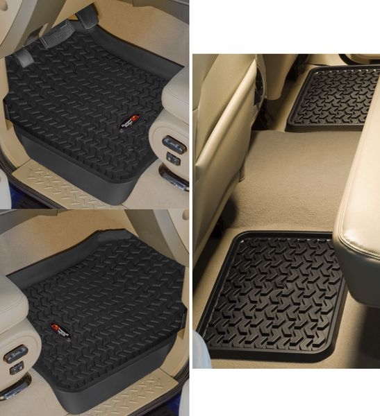 Ford Expedition F 150 Supercrew Lincoln Blackwood Navigator Front Rear All Terrain Floor Liner Set 1997 2003 Floor Liners Ford Expedition Ford F250