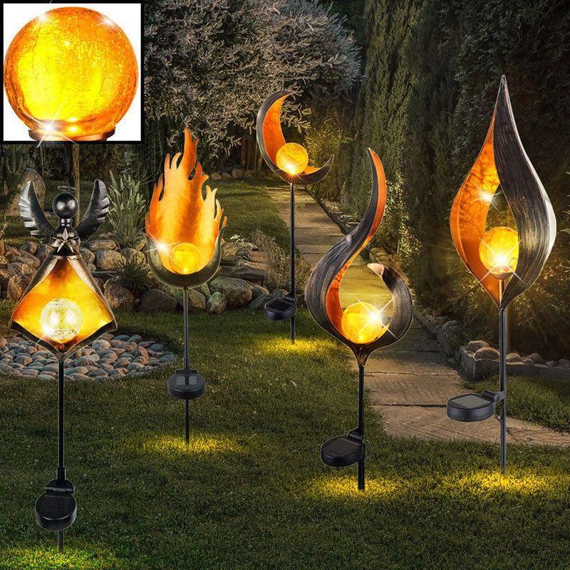 Solar Powered Flame Led Garden Light Led Garden Lights Solar Lights Garden Garden Lighting