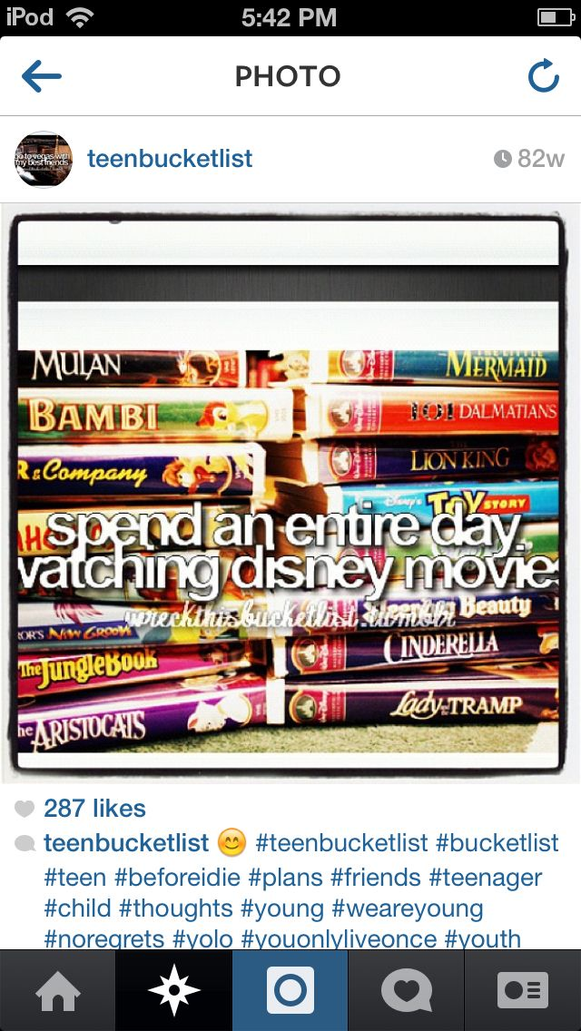 All dat watching Disney Movies with someone I Love