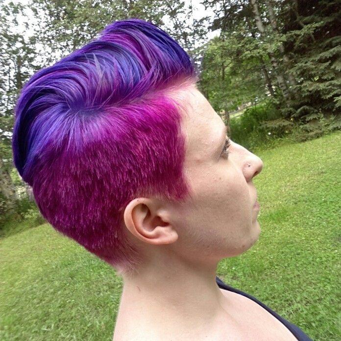 Done Using Splat Dye In Berry Blast And Purple Desire Splat Hair Color Hair Styles Hair Color