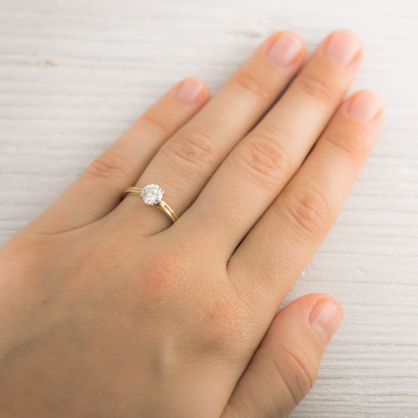 Image of 71 Carat Vintage Tiffany Co Gold Solitaire Engagement