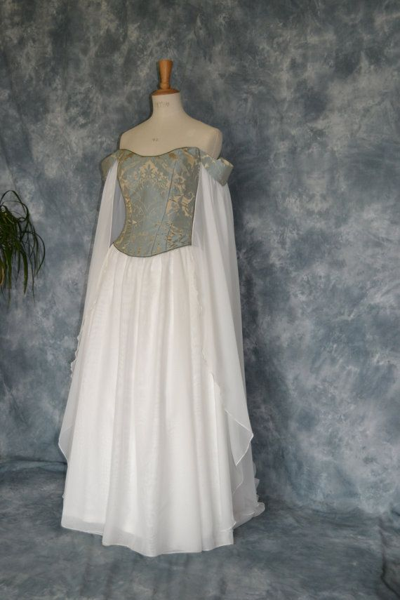Medieval Wedding Dress,Elvish Gown,Renaissance Dress,Corseted ...