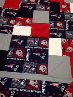 3a1e3b852 New England Patriots Quilt by RosehillQuilting on Etsy