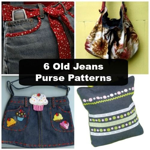 eff1578271 6 Old Jeans Purse Patterns - how to make a purse out of old jeans!