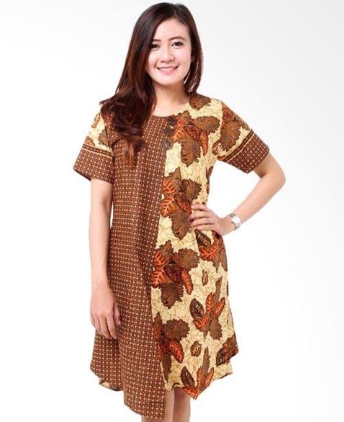 Long dress batik brokat