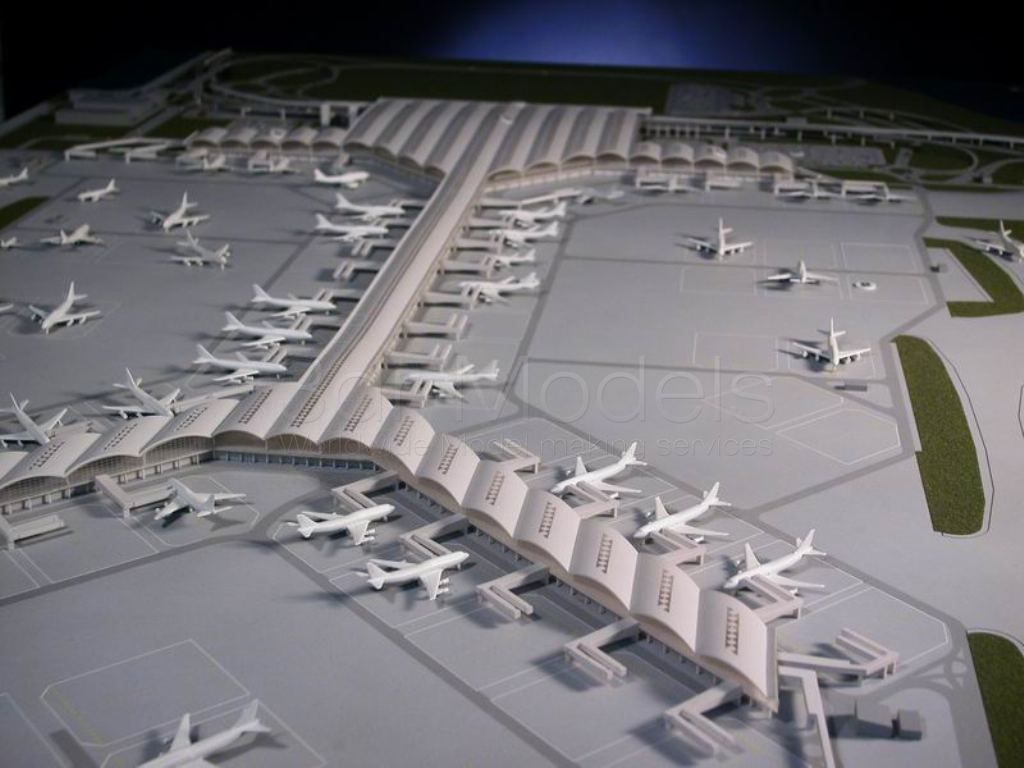 Model Making Of Hong Kong Airport Phase 1 For Foster Partners Scale 1 500 Architectural Scale Architecture Model Airport Design