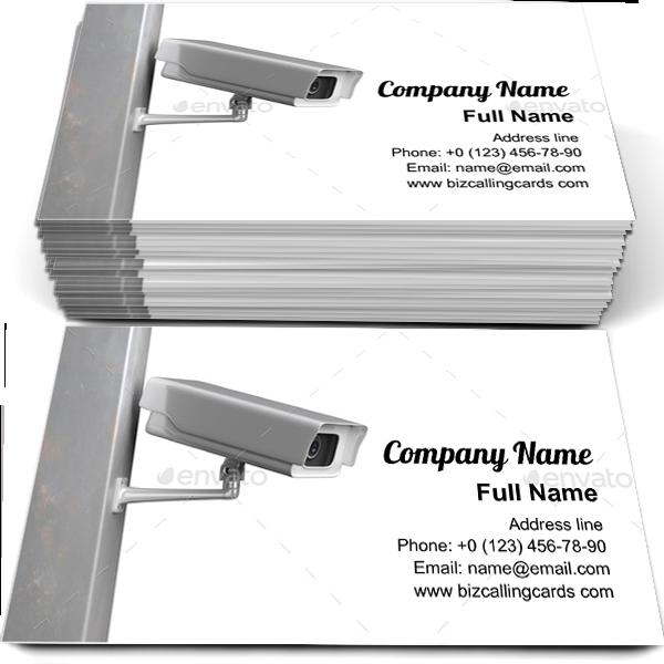 Free Cctv Security Camera Business Card Template Maker Cctv Security Cameras Business Card Template Security Camera