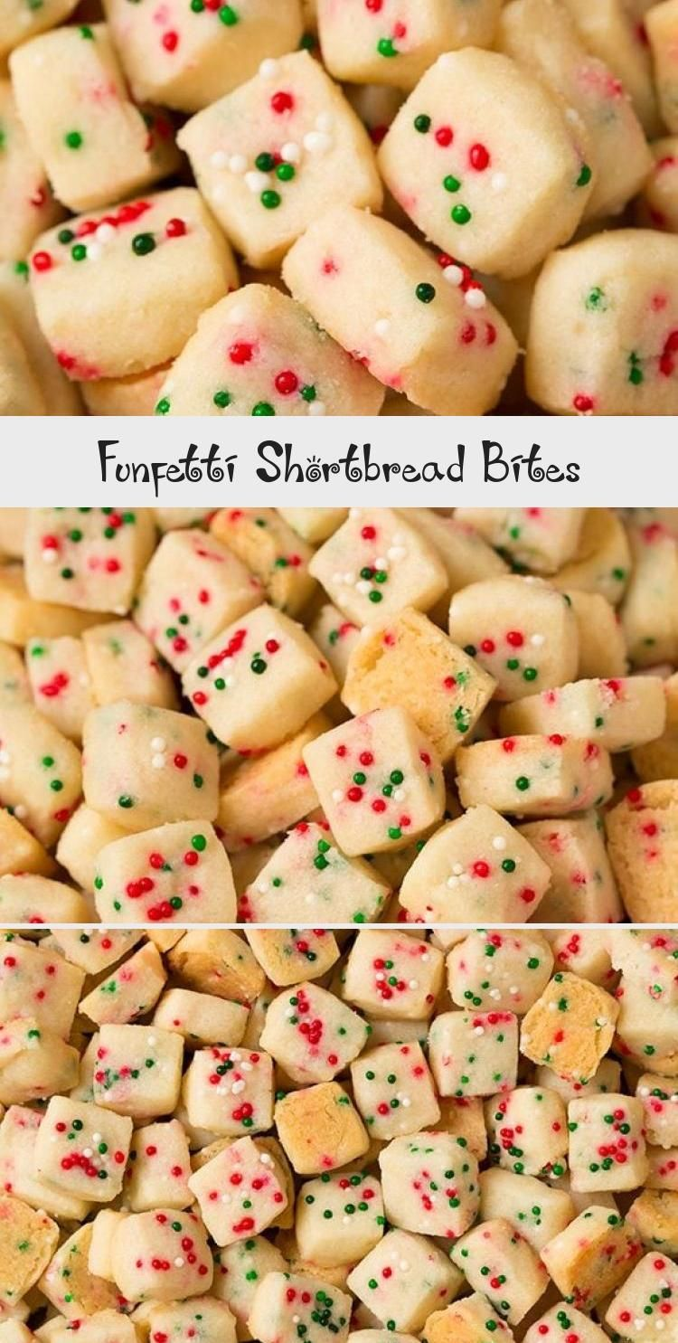Funfetti Shortbread Bites These fun little shortbread bites are perfect for the holidays Made with Christmas sprinkles they make great gifts or snacks for parties  Holida...