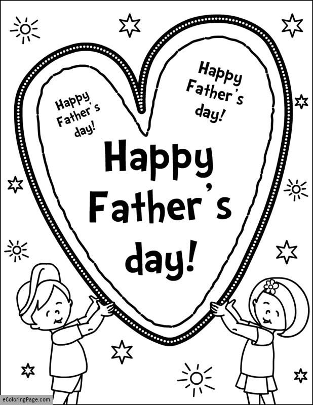 happy-fathers-day-son-and-daughter-with-heart-coloring
