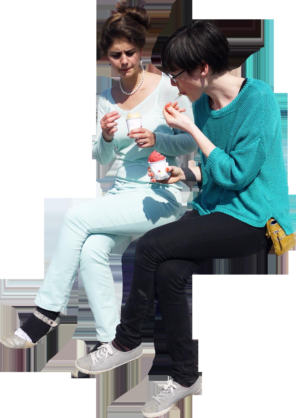 Girls Eating Ice Cream Photoshop Tekentips Mensen