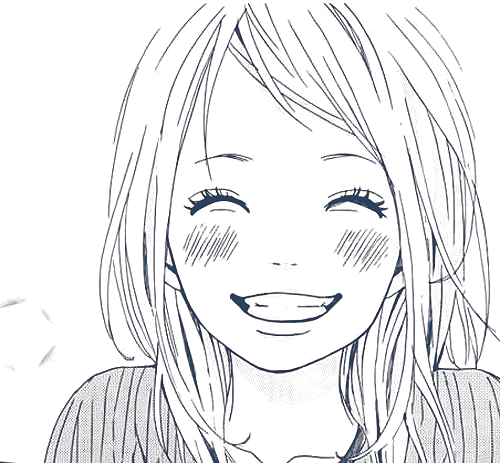 Smiling girl, smiling eyes, manga, girl, smile, cute and
