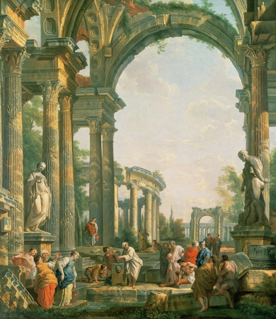 classical ruins, 18th century, by giovanni paolo panini | the
