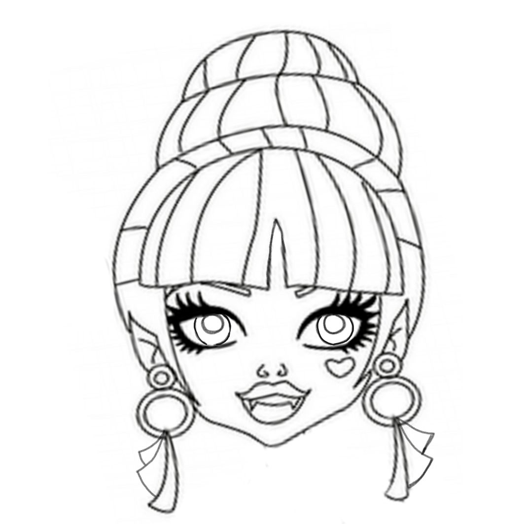 draculaura monster high coloring page  monster coloring