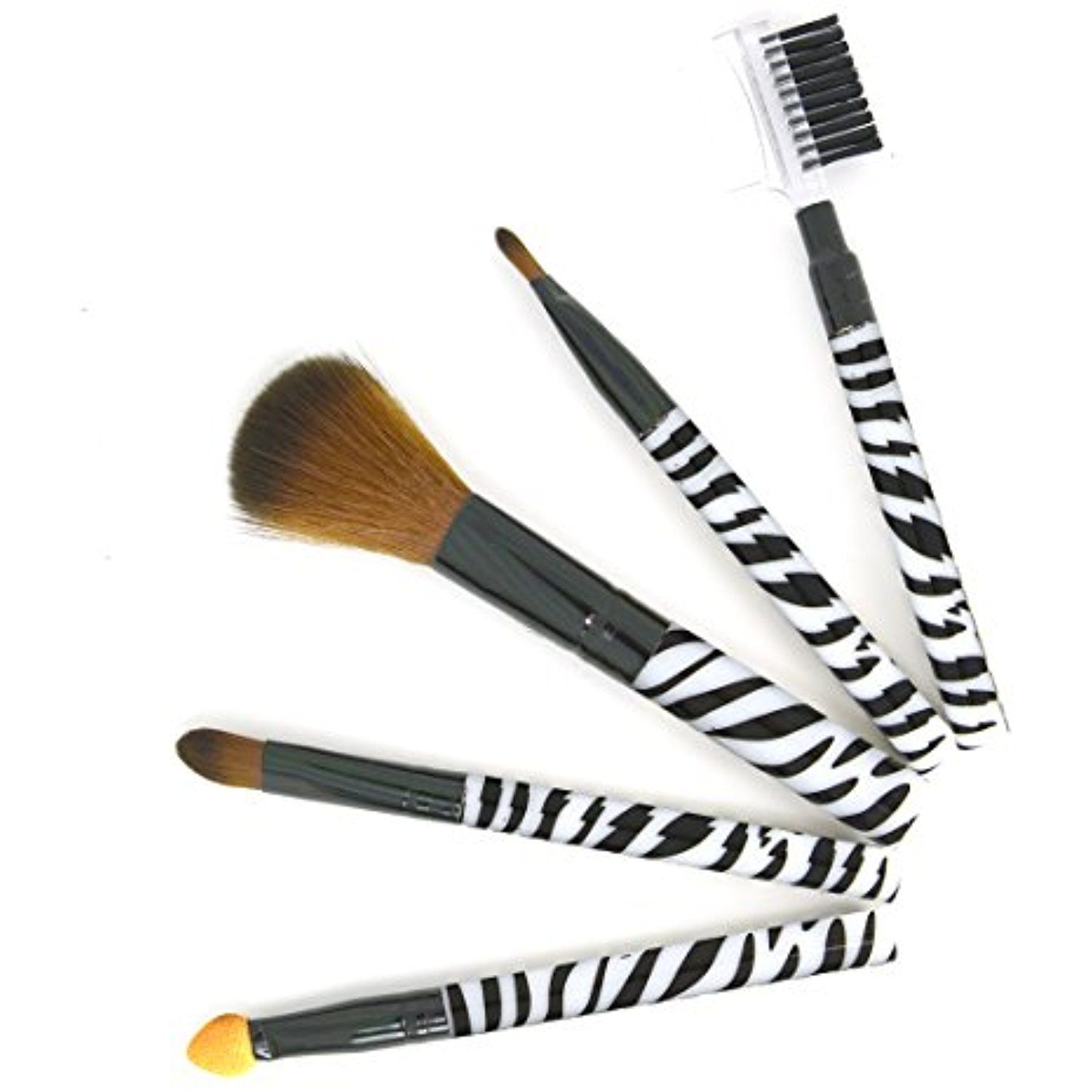 Perfect Makeup Set Zebra Print (5pc Professional