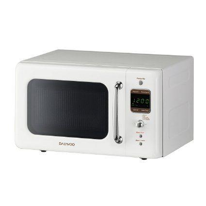 Amazon.com: Daewoo Retro Microwave Oven 0.7 Cu Ft, Creme White 700W
