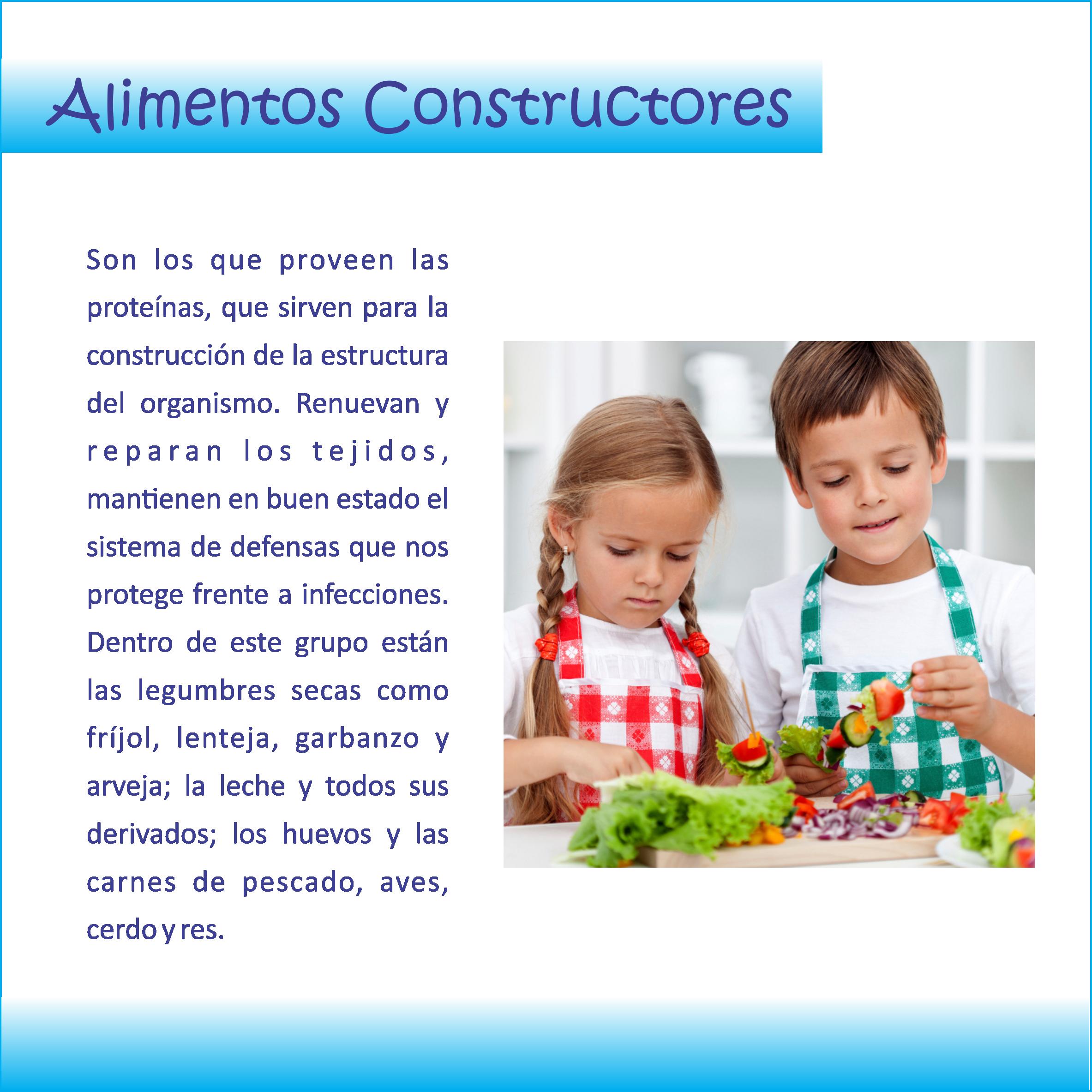 Nutrición en los #niños . . . #Alimentos #Constructores