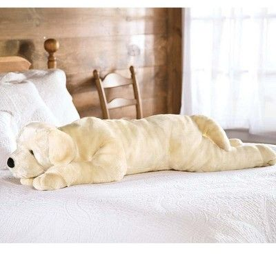 Super Soft Labrador Dog Body Pillow With Realistic Features Yellow Plow Hearth Almohadones Peluches
