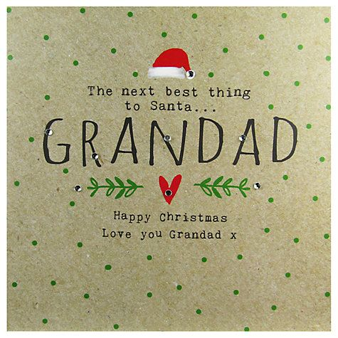 Buy Hammond Gower Grandad Words Christmas Card Online at johnlewis