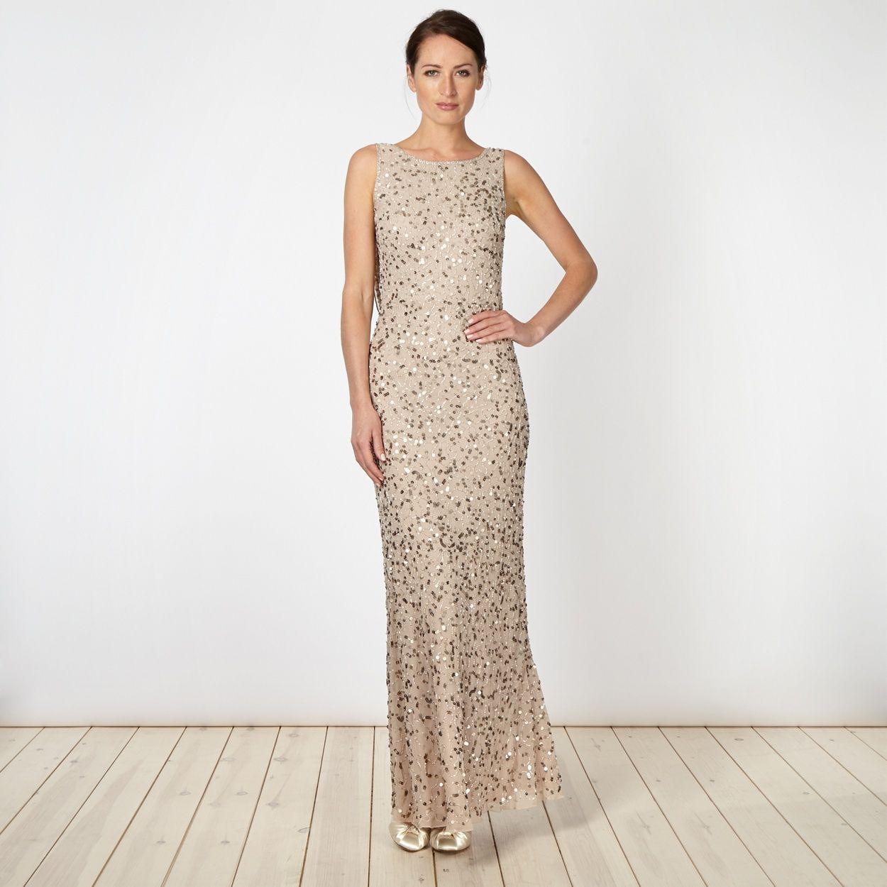 Debut natural embellished chiffon maxi dress at debenhams debut natural embellished chiffon maxi dress at debenhams ombrellifo Images