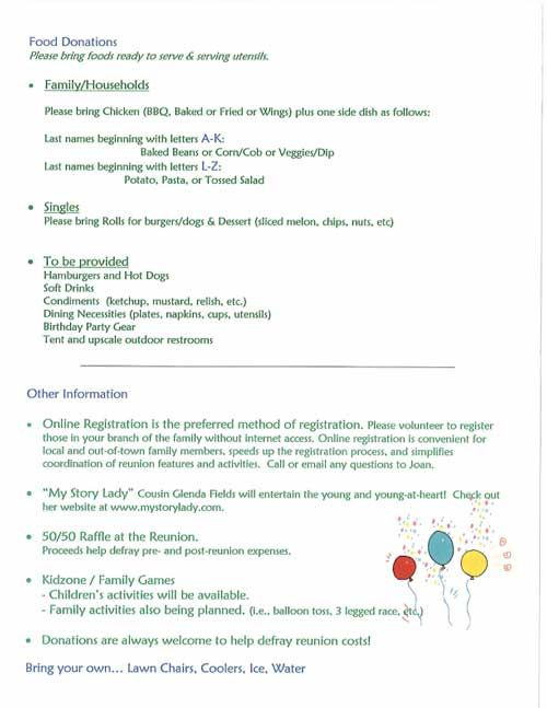 Reunion Invites  Family Reunions Family Reunion Invitations And