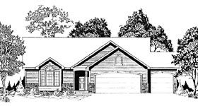 1424 sf Elevation of Traditional   House Plan 62564