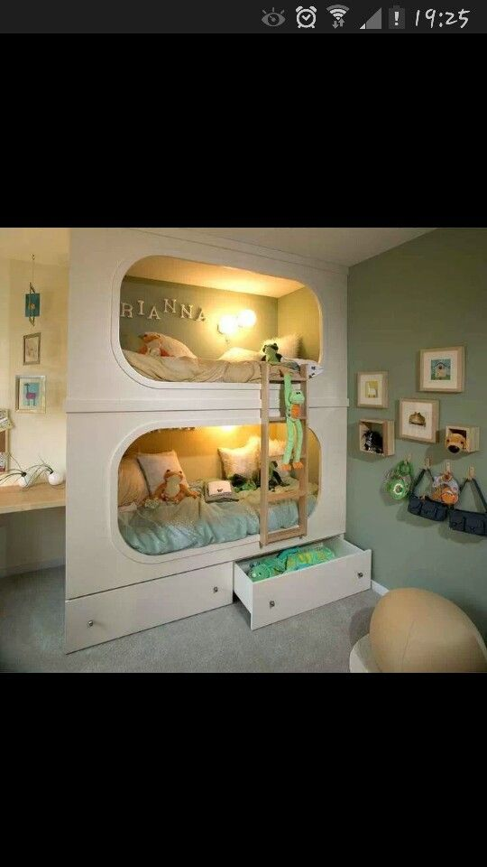 Beautiful bunk beds for girl or boys room.